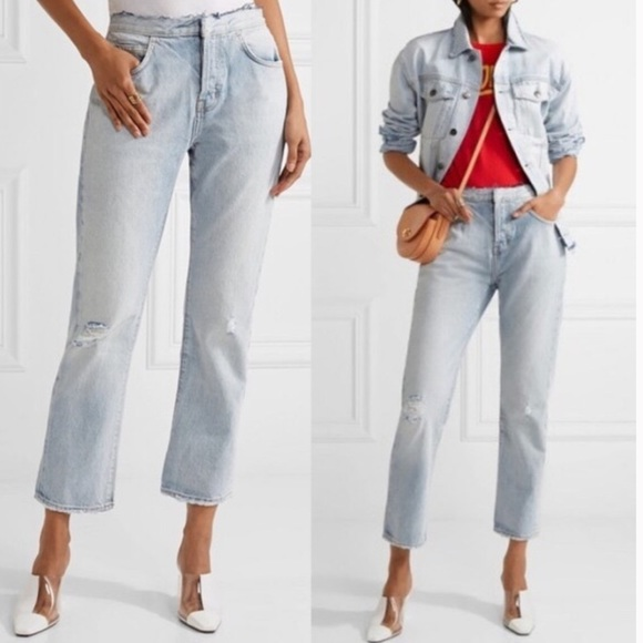 Current/Elliott Denim - CURRENT ELLIOTT Original Straight Cutoff Waist